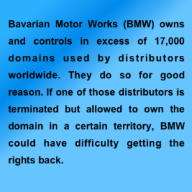 BMW domains